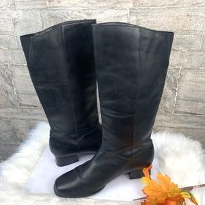 Croft and Barrow Black Pull up Leather Boots